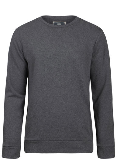 Men's Crew Neck Sweatshirt, ASH, hi-res