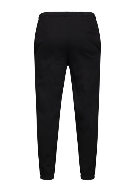 Men's Graphic Fleece Pant, BLACK, hi-res