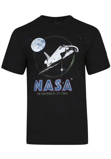 Men's NASA Tee, BLACK, hi-res