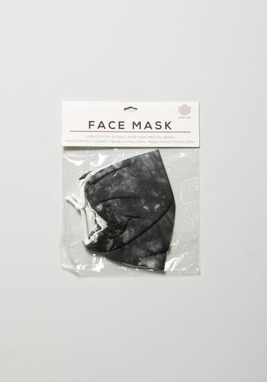 Tie Dye Face Mask, CHARCOAL, hi-res