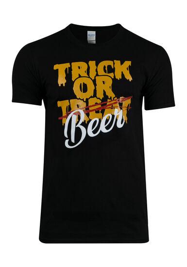 Men's Trick Or Beer Tee, BLACK, hi-res