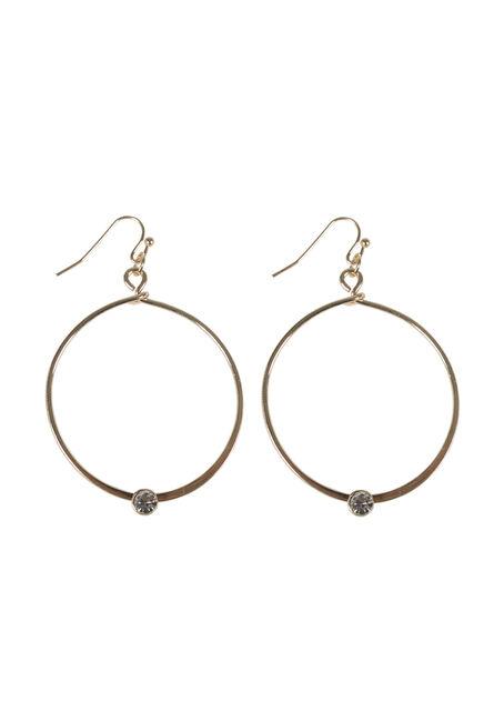 Ladies' Rhinestone Hoop Earring
