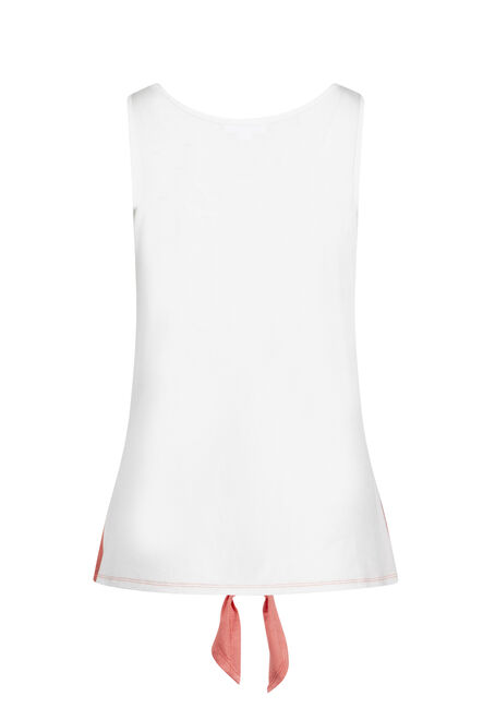 Women's Colour Block Tank, WATERMELON, hi-res