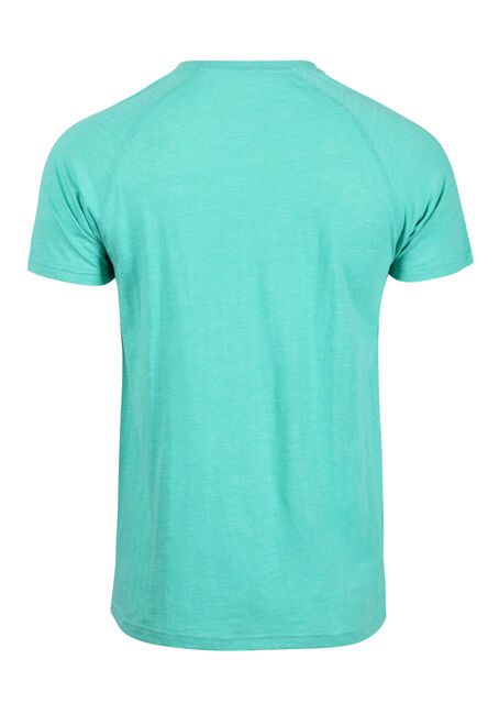 Men's Everyday Henley Tee, AQUA GREEN, hi-res