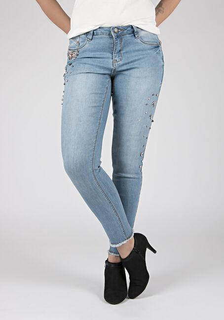Ladies' Embellished Skinny Jeans