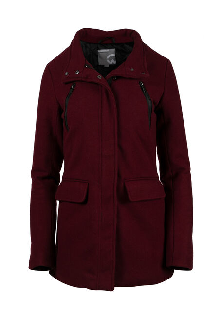Ladies' Plus Size Wool Coat