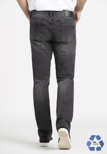 Men's Washed Black Relaxed Slim Jean, BLACK, hi-res