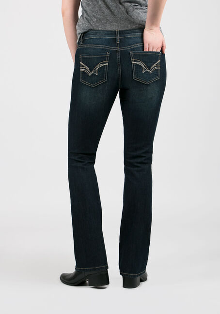 Women's Baby Boot Jeans, DARK WASH, hi-res
