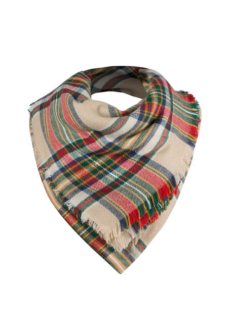 Ladies' Plaid Square Scarf