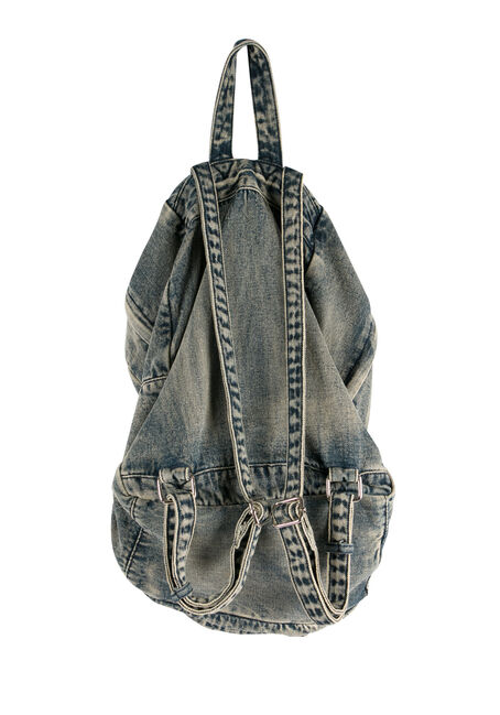 Ladies' Denim Backpack, MEDIUM VINTAGE WASH, hi-res