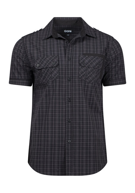 Men's Mini Plaid Shirt
