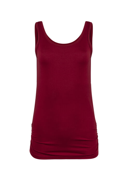 Ladies' Super Soft Ruched Side Tank, TRUE RED, hi-res