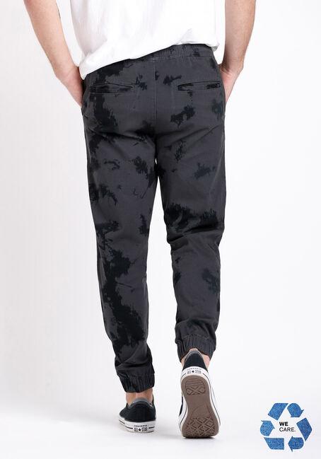 Men's Tie-Dye Twill Jogger, BLACK, hi-res