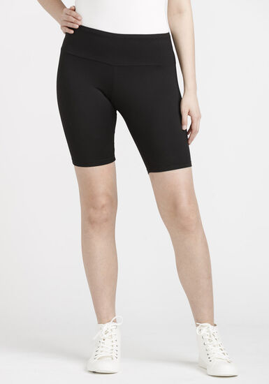 Women's Super Soft High Waist Bermuda Short, BLACK, hi-res