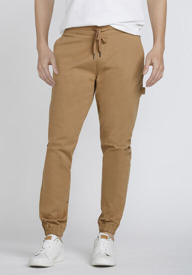 Men's Stretch Twill Carpenter Jogger, MEDIUM BROWN, hi-res