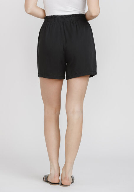 Women's Tie Front Soft Short, BLACK, hi-res