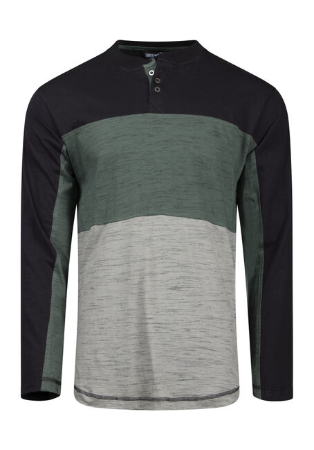 Men's Colour Block Henley