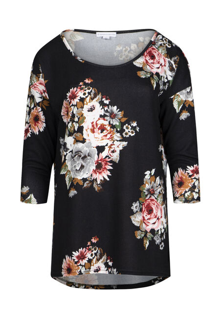 Women's Floral Dolman Tunic Top