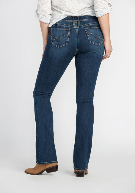 Ladies' Baby Boot Jeans, DARK VINTAGE WASH, hi-res