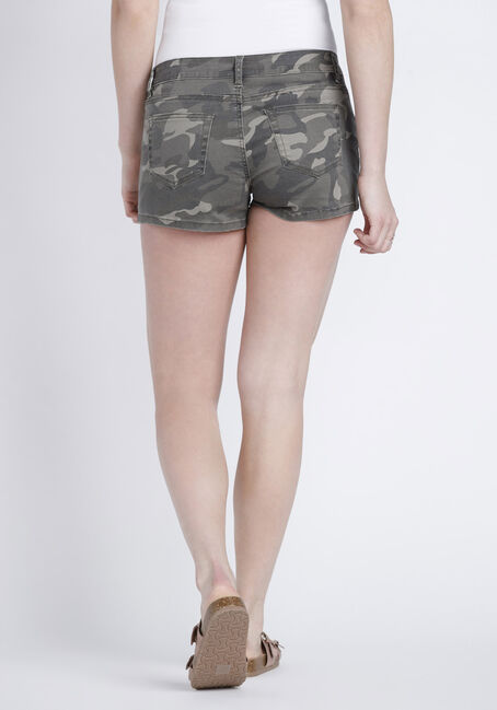 Women's Camo Print Short, DARK OLIVE, hi-res