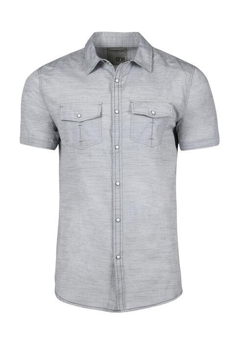 Men's Textured Shirt, LIGHT GREY, hi-res