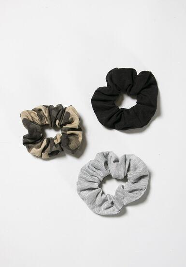 Women's Scrunchy Set, BLACK, hi-res
