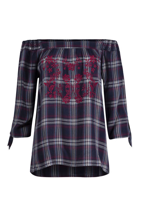 Women's Embroidered Bardot Top