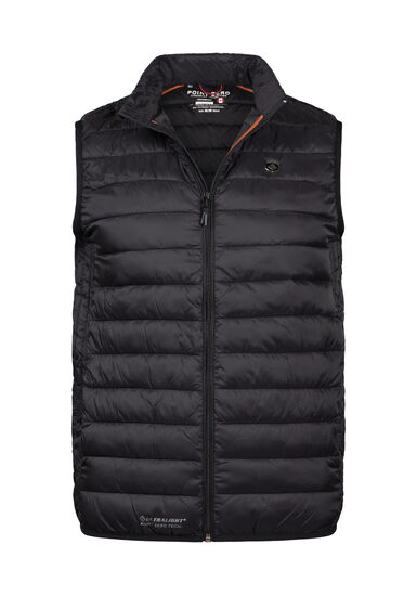 Men's Puffer Vest, BLACK, hi-res