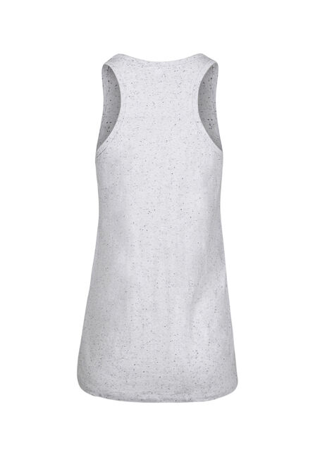 Women's Speckled Racerback Tank, WHITE, hi-res