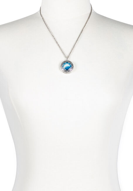 Ladies' Encased Moon Necklace
