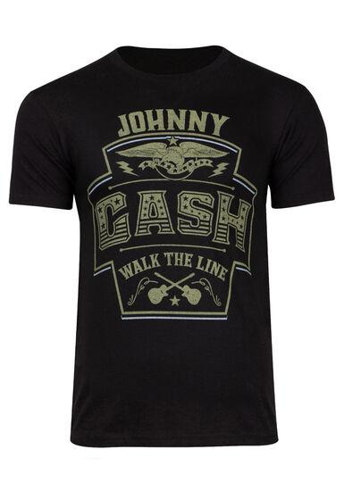 Men's Johnny Cash Tee, BLACK, hi-res