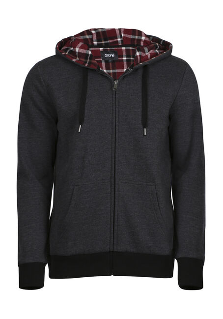 Men's Flannel Lined Hoodie