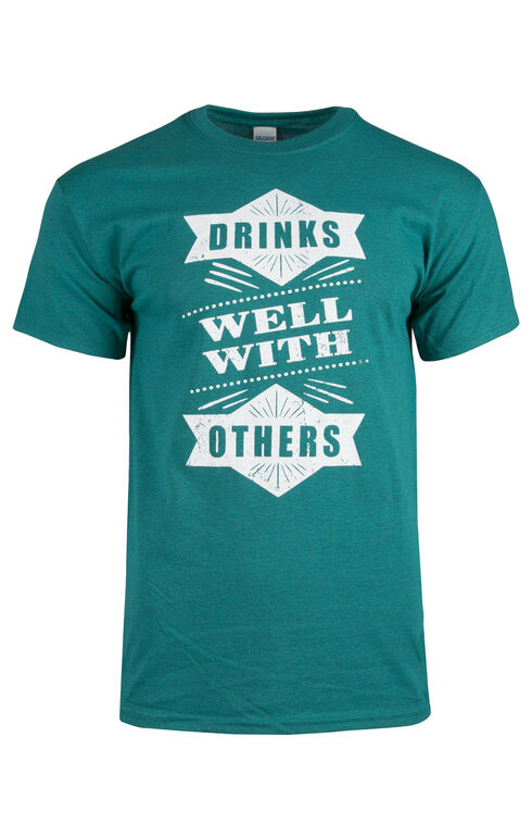 Men's Drinks Well With Other Tee, AQUA, hi-res