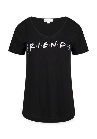 Women's Friends Tee, BLACK, hi-res