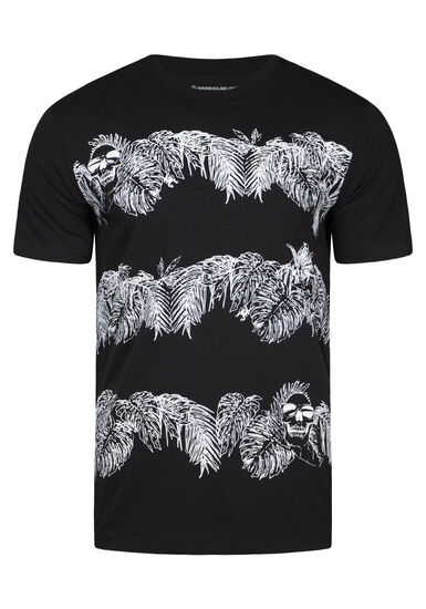 Men's Everyday Tropical Crew Neck Tee, BLACK, hi-res