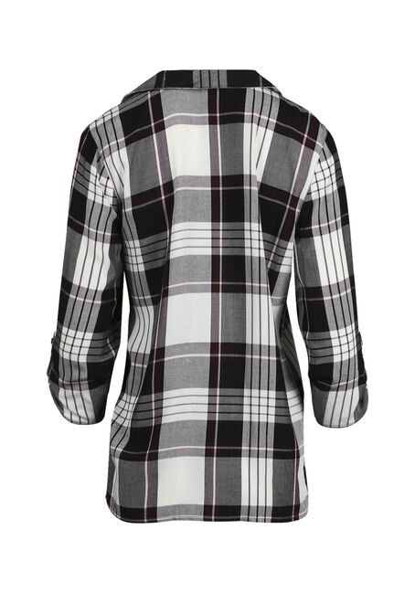 Women's Plaid Cardigan, DEEP ORCHID, hi-res