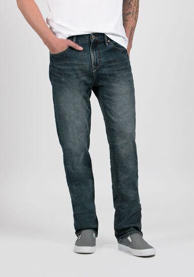 Men's Slim Straight Jeans, MEDIUM WASH, hi-res