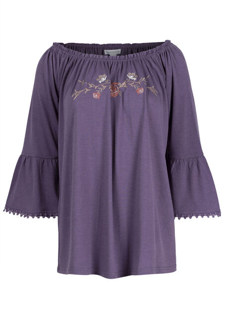Ladies' Bell Sleeve Peasant Top