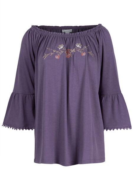 Women's Bell Sleeve Peasant Top
