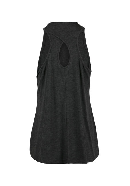 Ladies' Wife Mom Boss Keyhole Tank, CHARCOAL, hi-res