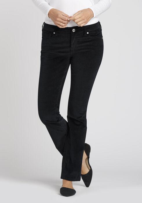 Ladies' Uncut Corduroy Baby Boot Pant, BLACK, hi-res