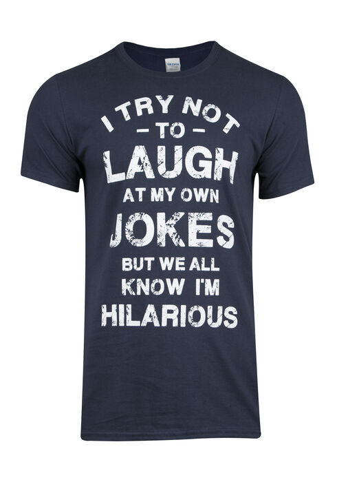 Men's I'm Hilarious Tee, NAVY, hi-res
