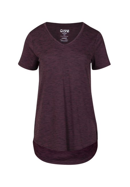 Women's Drapey V-Neck Space Dye Tee