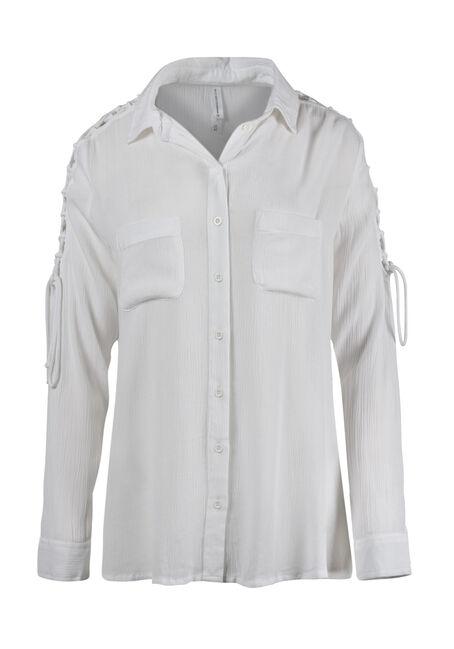 Women's Lace Up Sleeve Shirt