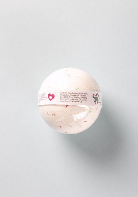 Candy Cane Bath Bomb, WHITE/RED, hi-res
