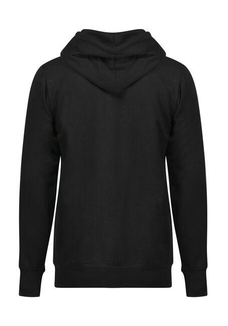 Men's Classic Zip Front Hoodie, BLACK, hi-res