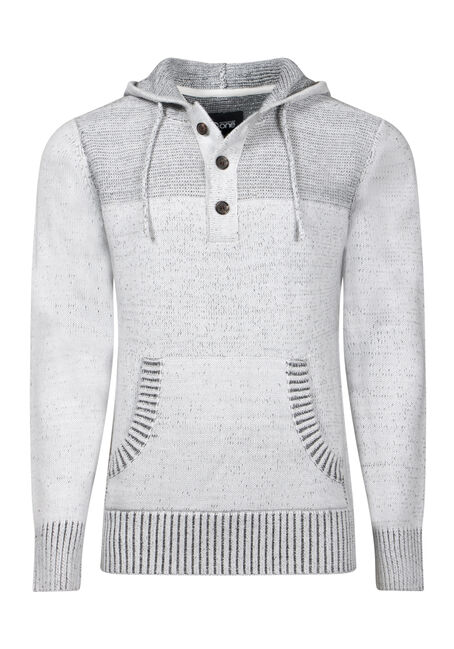 Men's Henley Hooded Sweater