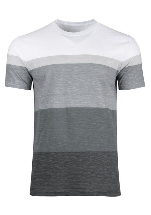 Men's Everyday Stripe Tee, CHARCOAL, hi-res