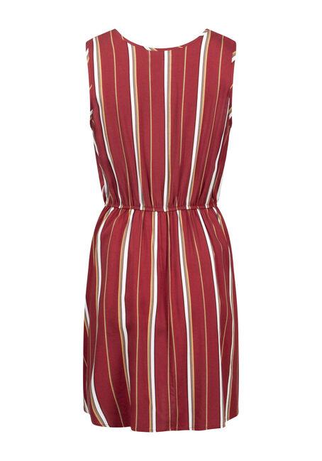 Women's Stripe Fit & Flare Dress, SEDONA STRIPE, hi-res