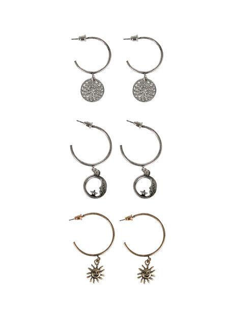 Ladies' Trio Celestial Earring Set